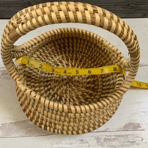 Vintage Accents - Vintage Handmade Woven Basket with Handle